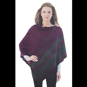 Celeste wool and cashmere wrap/poncho purple gray